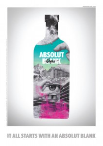 Absolut Blank Vodka Edition Wagner